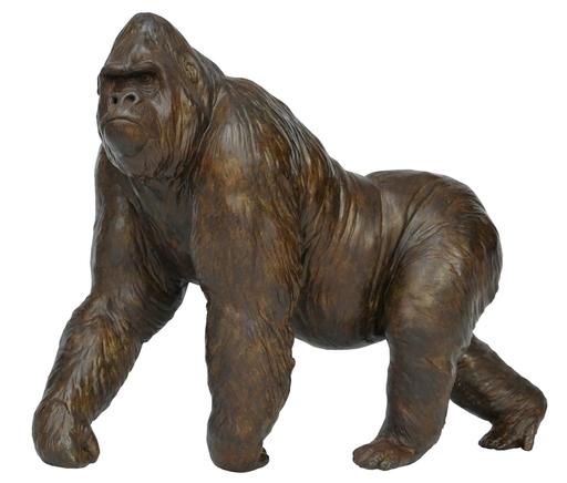 Damien COLCOMBET - Skulptur Volumen - Grand gorille mâle en marche