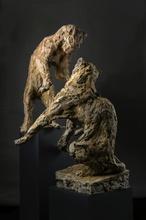 Patrick VILLAS - Sculpture-Volume - Couple de léopards jouant