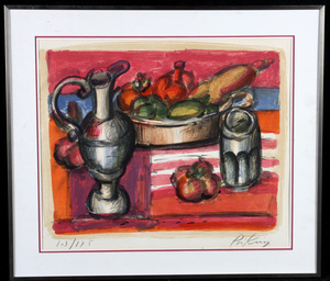 Franz PRIKING, Nature morte aux fruits et pichet