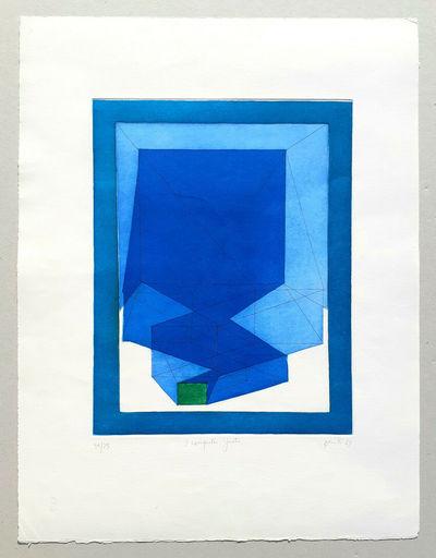 Achille PERILLI - 版画 - Il computer ignoto