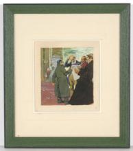 """Franz WACIK - Painting - Franz Wacik (1883-1938) """"Jewish refugees/WWI"""" gouache"""