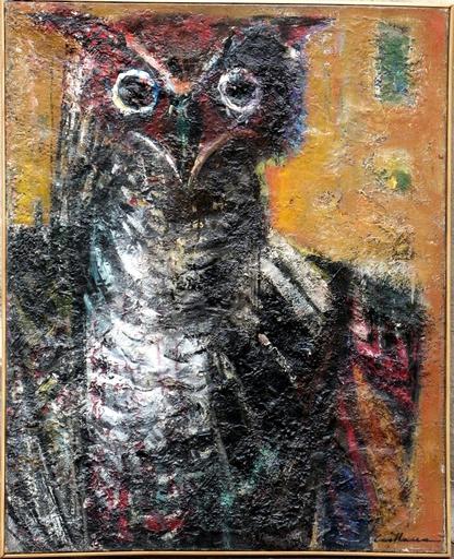 Rodolphe CAILLAUX - Peinture - L'OISEAU DE NUIT