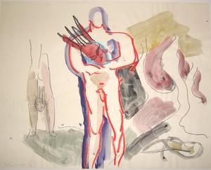 Siegfried ANZINGER - Drawing-Watercolor - o.T.