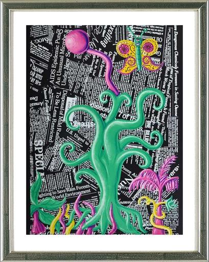 Kenny SCHARF - Grabado - Untitled (Columbus)