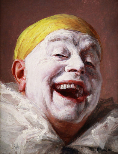 Armand HENRION - Pintura - The laughing Pierrot