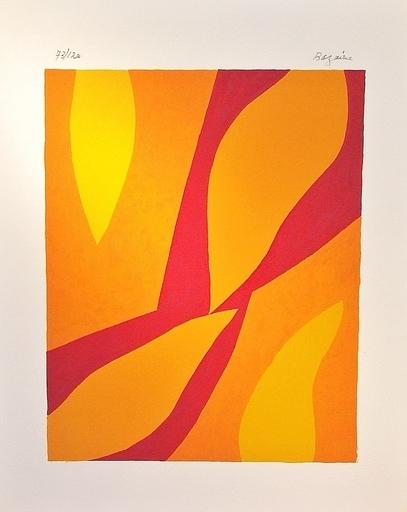 Jean René BAZAINE - Estampe-Multiple - Fondation Xème anniversaire. Composistion, 1974