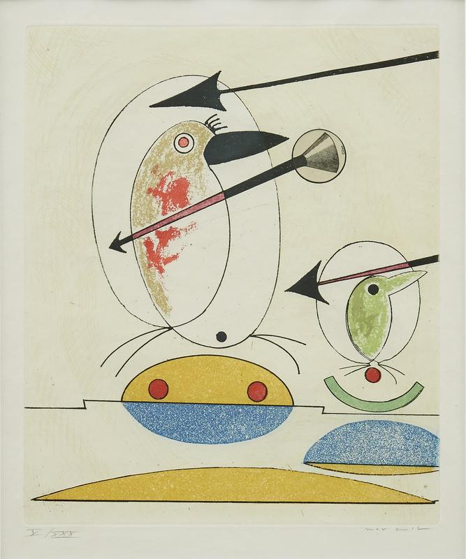Max ERNST - Print-Multiple - Oiseaux en péril