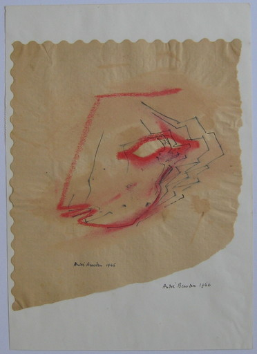André BEAUDIN - Drawing-Watercolor - DESSIN ENCRE SUR PAPIER 1946 SIGNÉ MAIN HANDSIGNED DRAWING