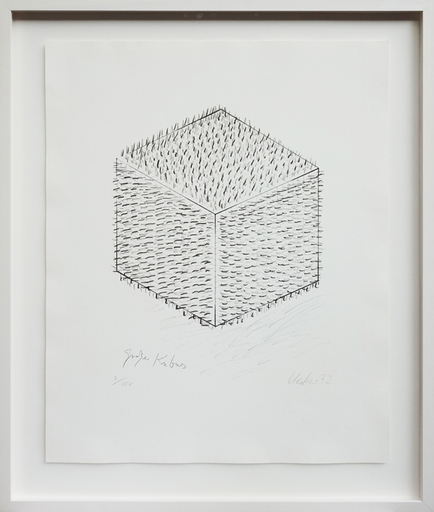Günther UECKER - Print-Multiple - Großes Kubus