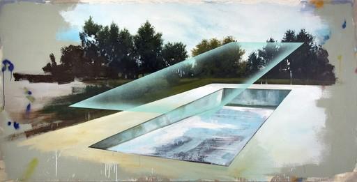 Peter HOFFER - Peinture - Piscine