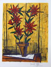 Bernard BUFFET - Stampa Multiplo -  Les Marguerites Rouges 1983