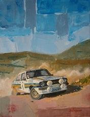Alex BALAGUER - Peinture - Ari Vatanen & David Richards 1981 · Ford Escort RS1800