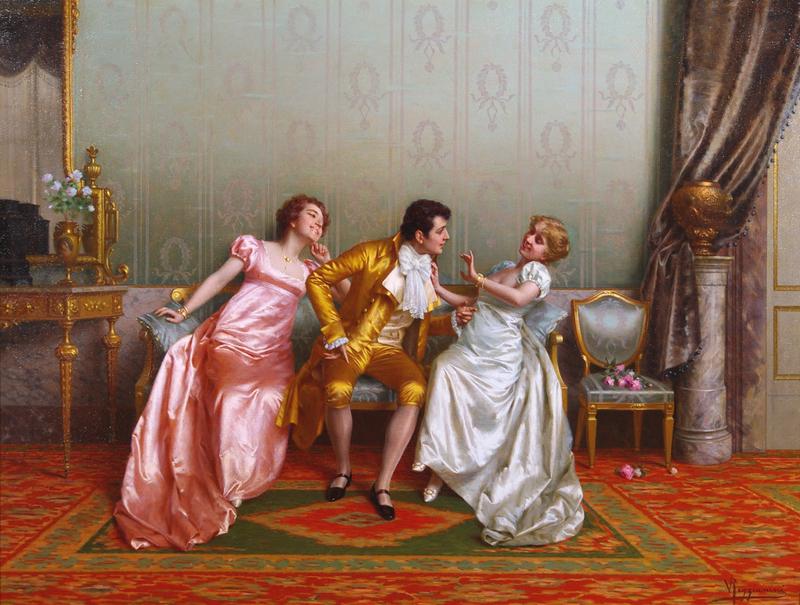 Vittorio REGGIANINI - Painting - Flirtation