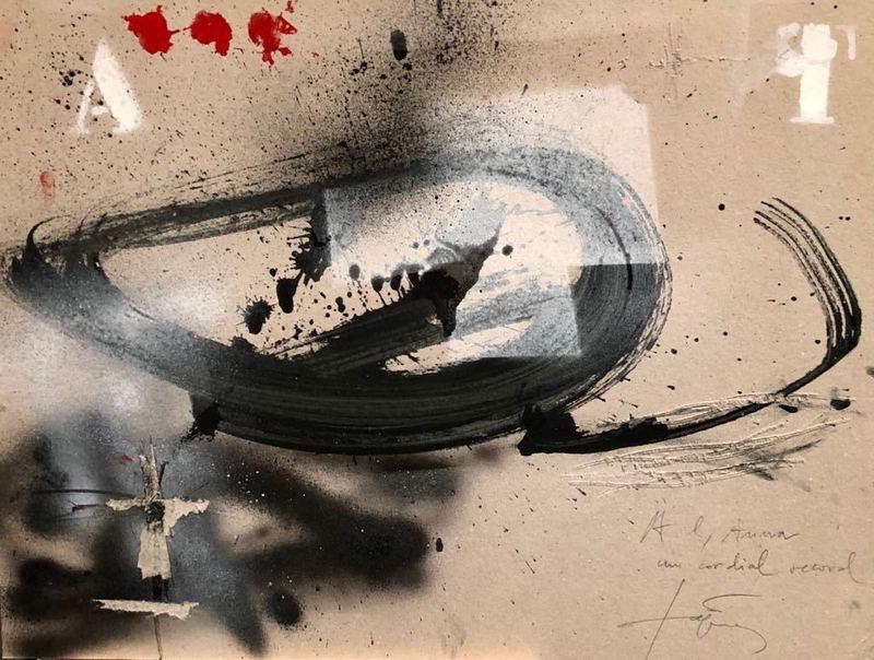 安东尼•塔皮埃斯 - 绘画 - A Y ROJO