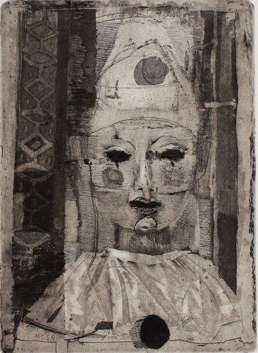 Mario CALANDRI - Druckgrafik-Multiple -  La maschera