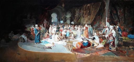 Eugenio LUCAS Y VILLAAMIL - Painting - HAREM. ESCUELA ORIENTALISTA