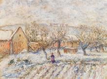 Paul Émile PISSARRO (1884-1972) - Garden in snow