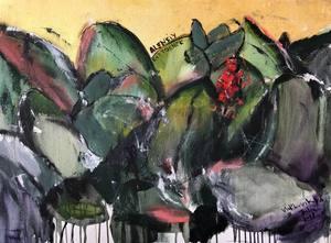 Julia PEKER-MOKHOVIKOVA - Pintura - The Scarlet Flower