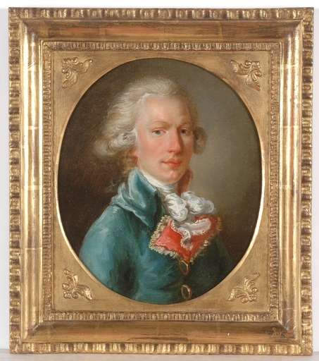 "Henri Pierre DANLOUX - Painting - ""Portrait of a young Gentleman"", Oil Painting"