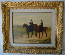 Jules Antoine VOIRIN - Peinture - Les cavalières