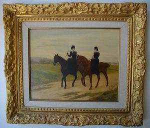 Jules Antoine VOIRIN - Pittura - Les cavalières