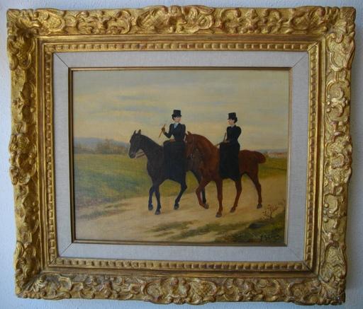 Jules Antoine VOIRIN - Pintura - Les cavalières