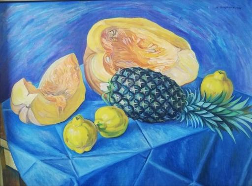 Raúl ANGUIANO VALADEZ - Pintura - Mantel azul