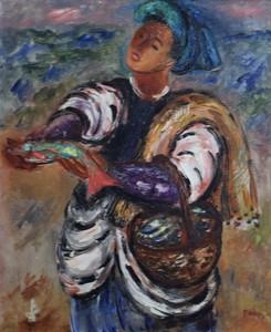Reuven RUBIN - Peinture - Fisherman