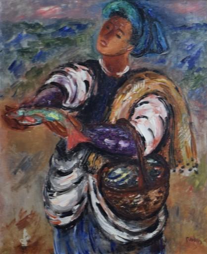 Reuven RUBIN - Painting - Fisherman