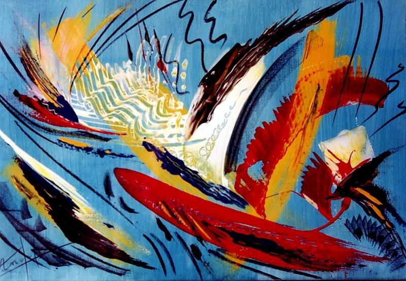 Didier ANGELS - Peinture - L'Indien