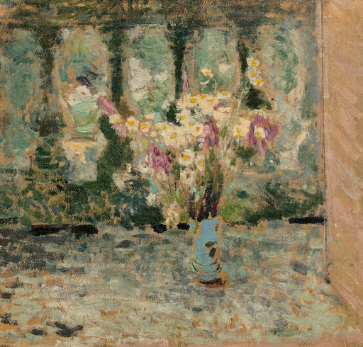 爱德华•(让) •维亚尔 - 绘画 - Marguerites sur un balcon