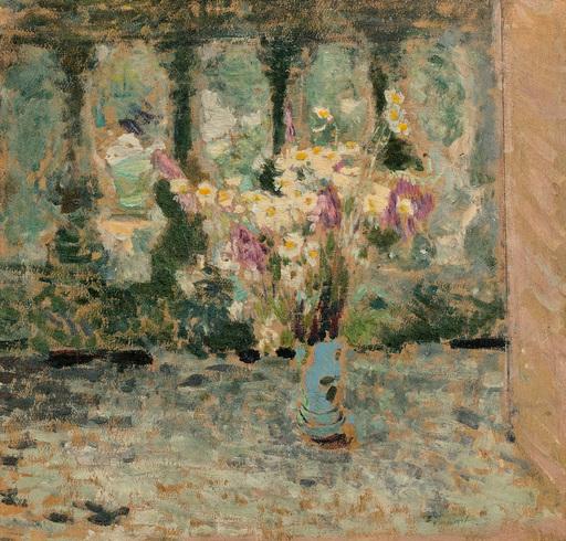 Édouard VUILLARD - Painting - Marguerites sur un balcon