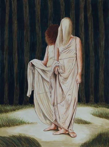 Erlend STEINER LOVISA - Painting - Tianda en Brett    (Cat N° 6337)