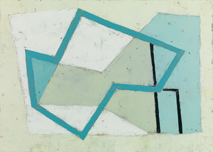 Jeremy ANNEAR - 绘画 - Harbour Forms III (Blue Edge)