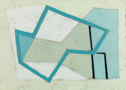 Jeremy ANNEAR - Painting - Harbour Forms III (Blue Edge)
