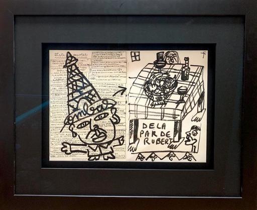 Robert COMBAS - Disegno Acquarello - de la par de Robert