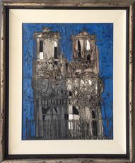 Claude VENARD - Painting - Notre Dame Bleu