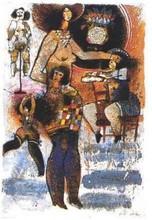 Théo TOBIASSE - Grabado - Femme Suite #4