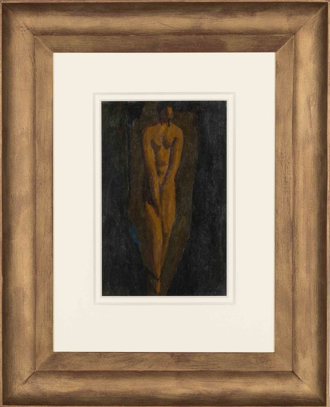 Alfons WALDE - Painting - Die schüchterne Dame