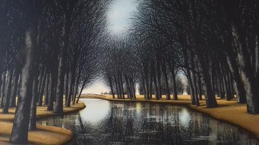 ジャック・デペルト - 版画 - Le pont sur la riviére.