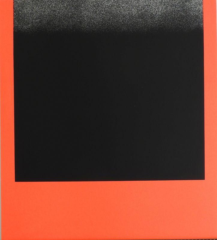 Rupprecht GEIGER - Grabado - Schwarz auf Rot