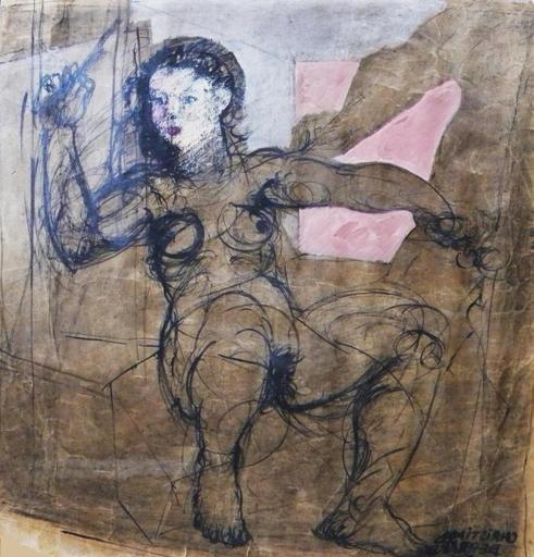 Christian BERNARD - Painting - La femme à la baguette
