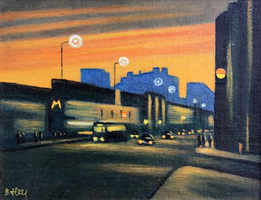 Valeriy NESTEROV - Peinture - Night Sretenka street. Moscow