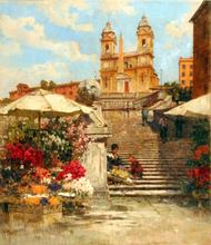 Filippo ANIVITTI - Pittura - Roma, Trinità dei Monti