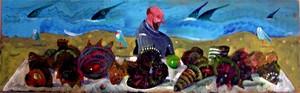 Antonio POSSENTI - Pintura - Conchiglie e pesci