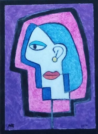 Harry BARTLETT FENNEY - Pittura - side view - violet