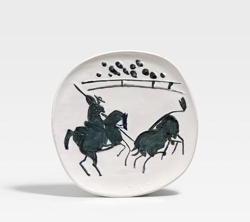 Pablo PICASSO - Ceramic - Picador et taureau