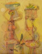 Romeo TABUENA - Painting - Vendedoras con Canastos