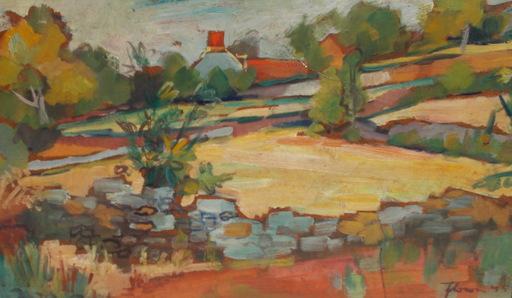 Albert FLOCON - Gemälde - Paysage du Rouergue