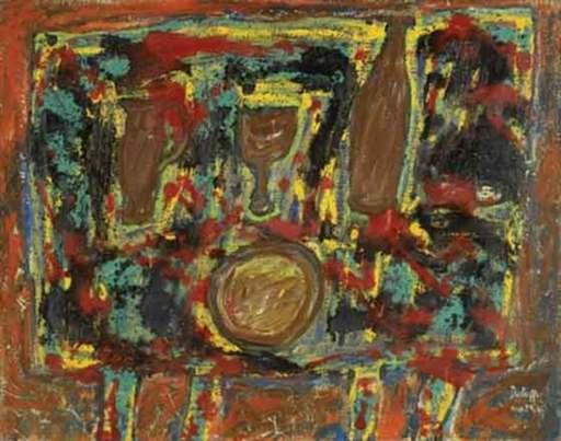 Jean DUBUFFET - Painting - Le Couvert